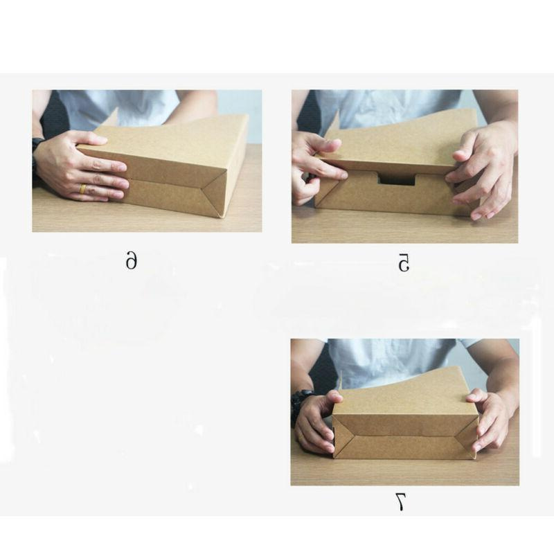 Portable File Boxes Organizer Cardboard File