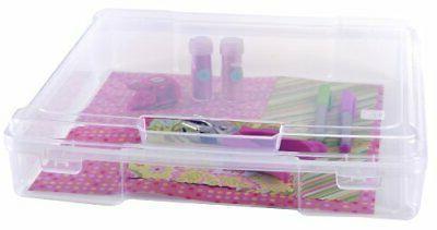 InterDesign Rain Stackable Cosmetic Organizer Box to Hold Ma