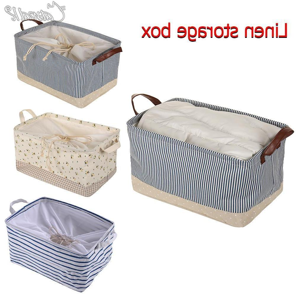Portable Storage Bin Closet Toy Box Container Organizer Home