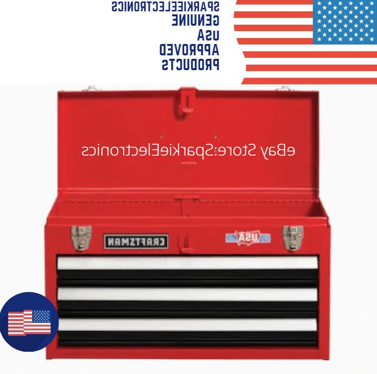 Portable Tool Chest Box Storage Cabinet Garage Mechanic 3 Dr
