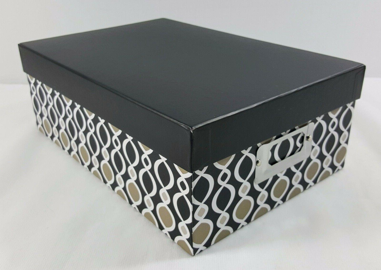 postcard photo storage box decorative black gray