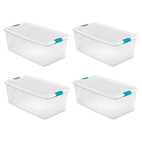 quart clear latching stacking storage