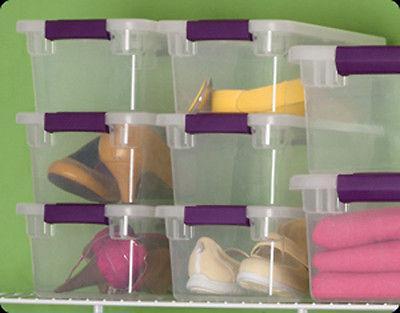 12 Sterilite 6-Quart ClearView Storage