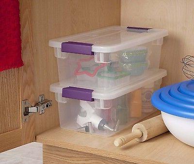 12 6-Quart ClearView Latch Box Storage Tote