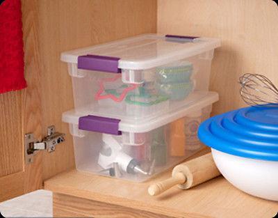 12 Pack) Sterilite 6-Quart ClearView Latch Storage Tote