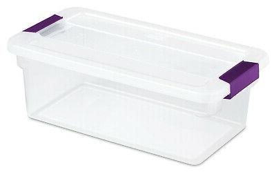 quart clearview latch storage tote