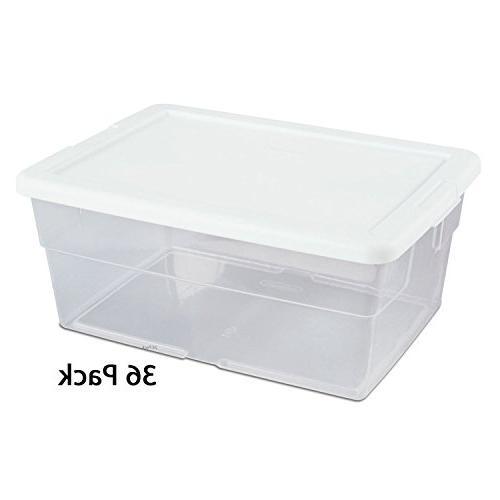 Sterilite #16448012 16QT Box/WHT