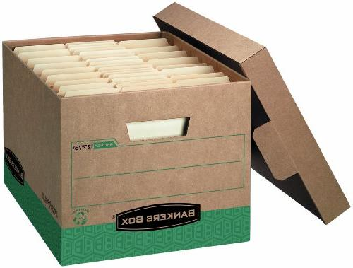 Bankers Box Heavy-Duty Storage Lid, Recycled,Letter/Legal, of 12