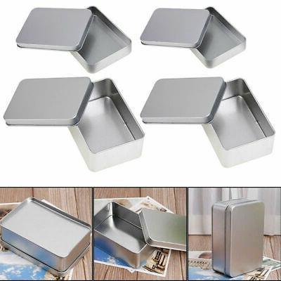 us stock small metal tin silver storage