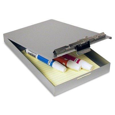 Saunders Redi-Rite Memo Storage Clipboard - Compartment - Aluminum Silver