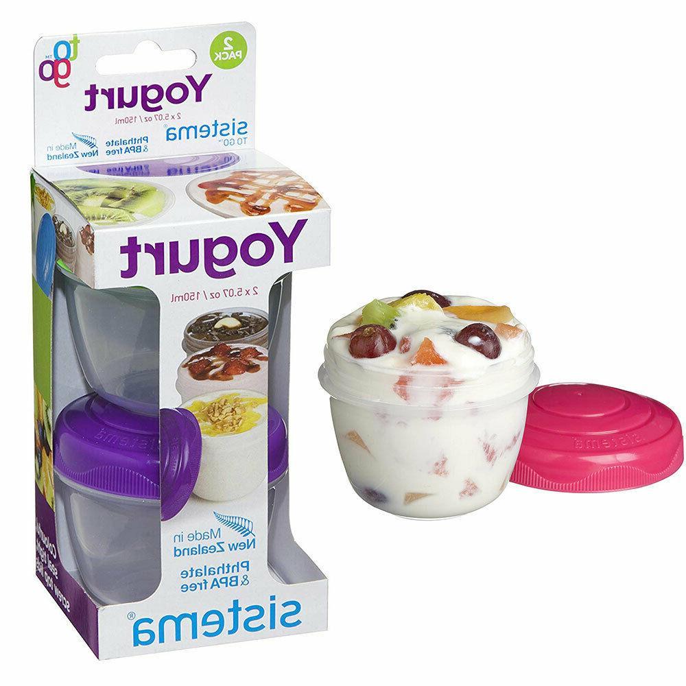 reusable food screw lid container yogurt fruit