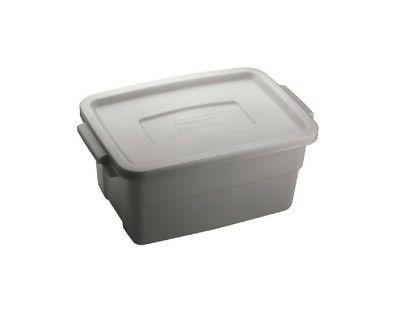 Rubbermaid RMRT030007 Roughneck Storage Tote Box, 3 Gallon