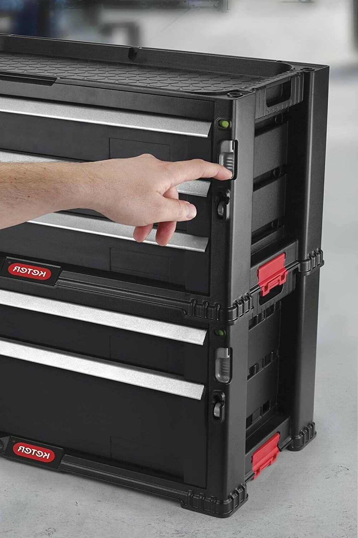 Rolling 5-Drawer Cabinet Tools Organizer Garage Storage Lockable