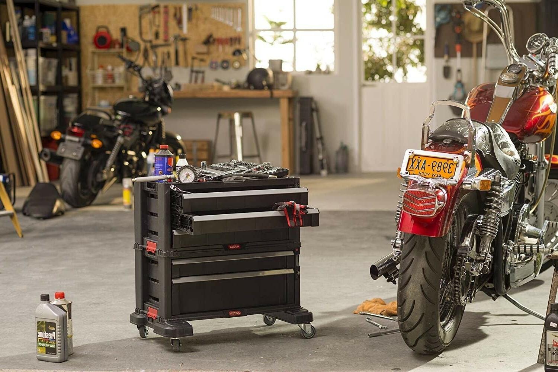 Rolling 5-Drawer Cabinet Garage Storage Lockable