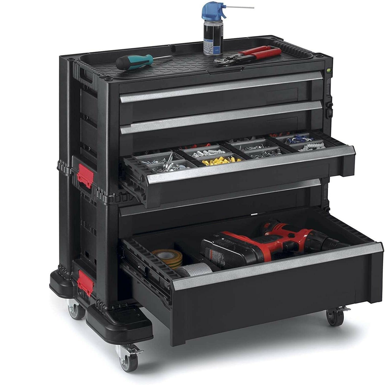 Rolling Tool Chest Box 5-Drawer Cabinet Tools Organizer Garage Lockable
