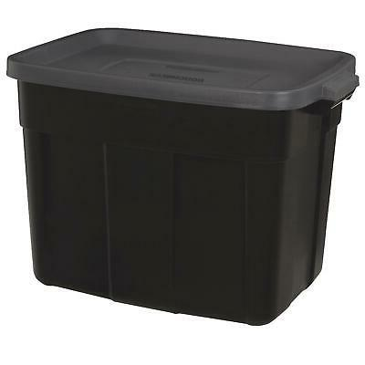 roughneck tote storage box container gray top