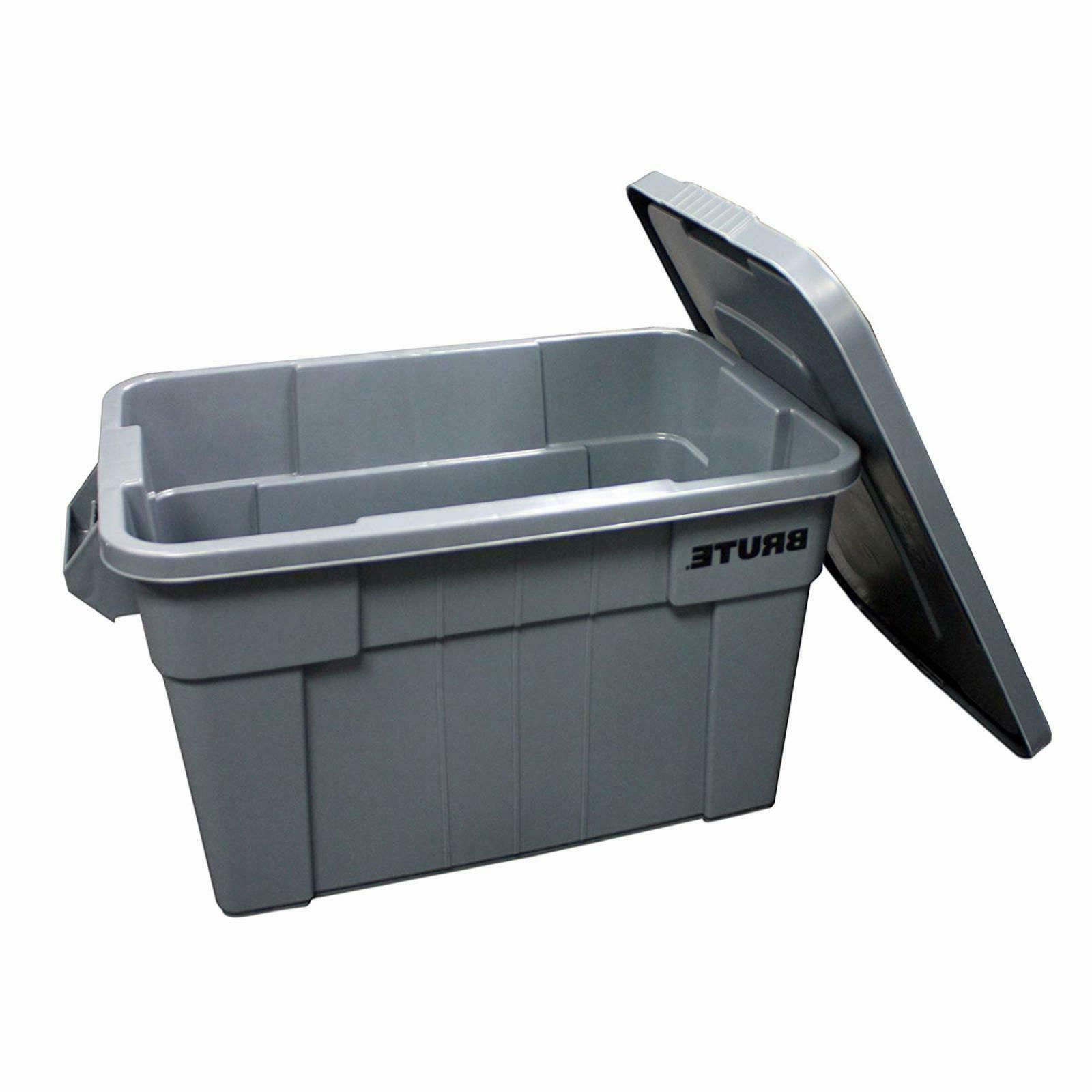 Rubbermaid Commercial BRUTE with Lid, 20-Gallon, FG9S3100GRAY
