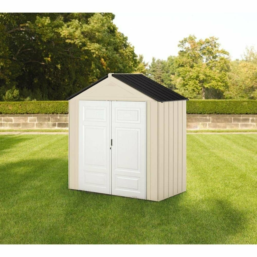 Rubbermaid Outdoor Shed, 18 cu. Olive/Sandstone