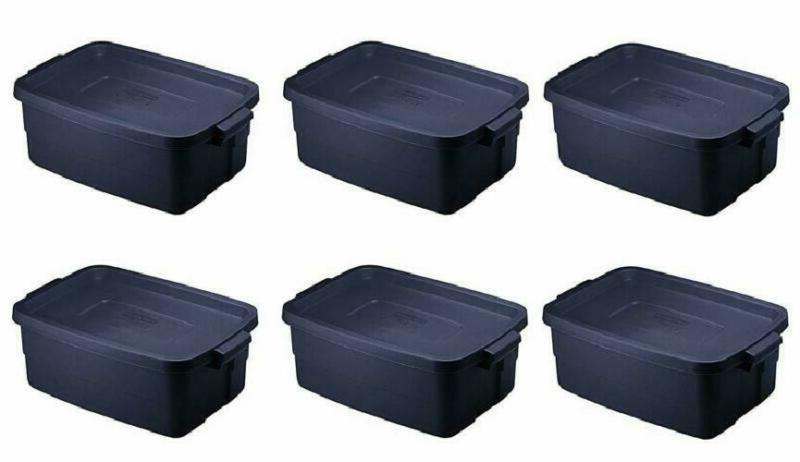 rubbermaid roughneck storage tote 3 gal dark