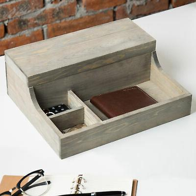 MyGift Graywashed Watch Case & Storage