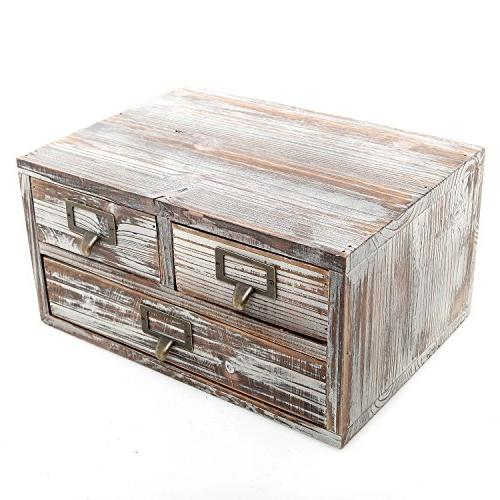 rustic torched finish wood office