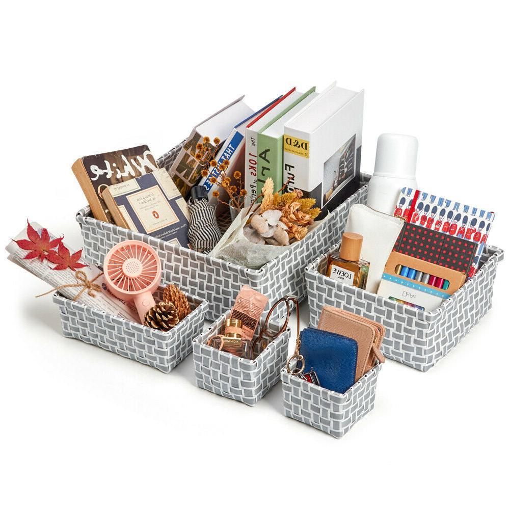 EZOWare 8 Baby Toy Dresser Drawer Organizer Basket Woven Storage Box