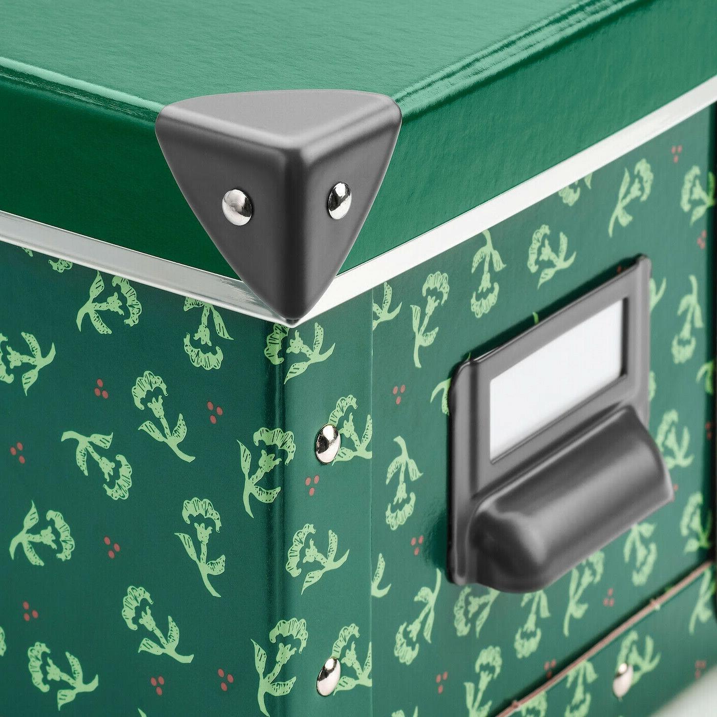 """Set of 2 - Ikea FJALLA Storage w/Lid Decor x 10 6"""""""