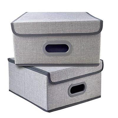 set of 2 foldable storage box bins