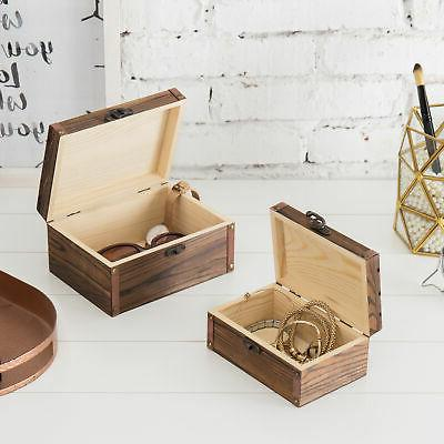 Set of Torched Nesting Boxes/Jewelry