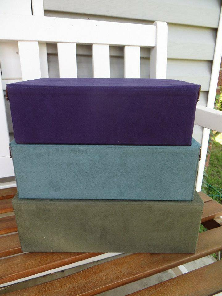Set of Decorative Boxes Purple Green NWT
