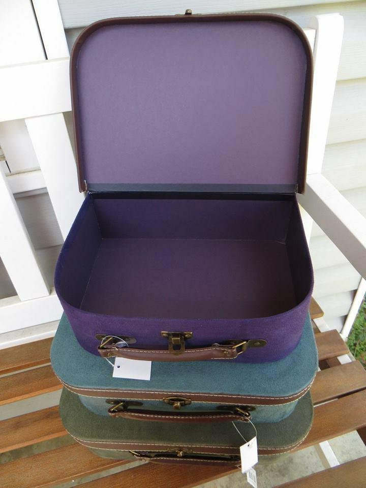 Set of 3 Imax Decorative Suitcase Storage NWT