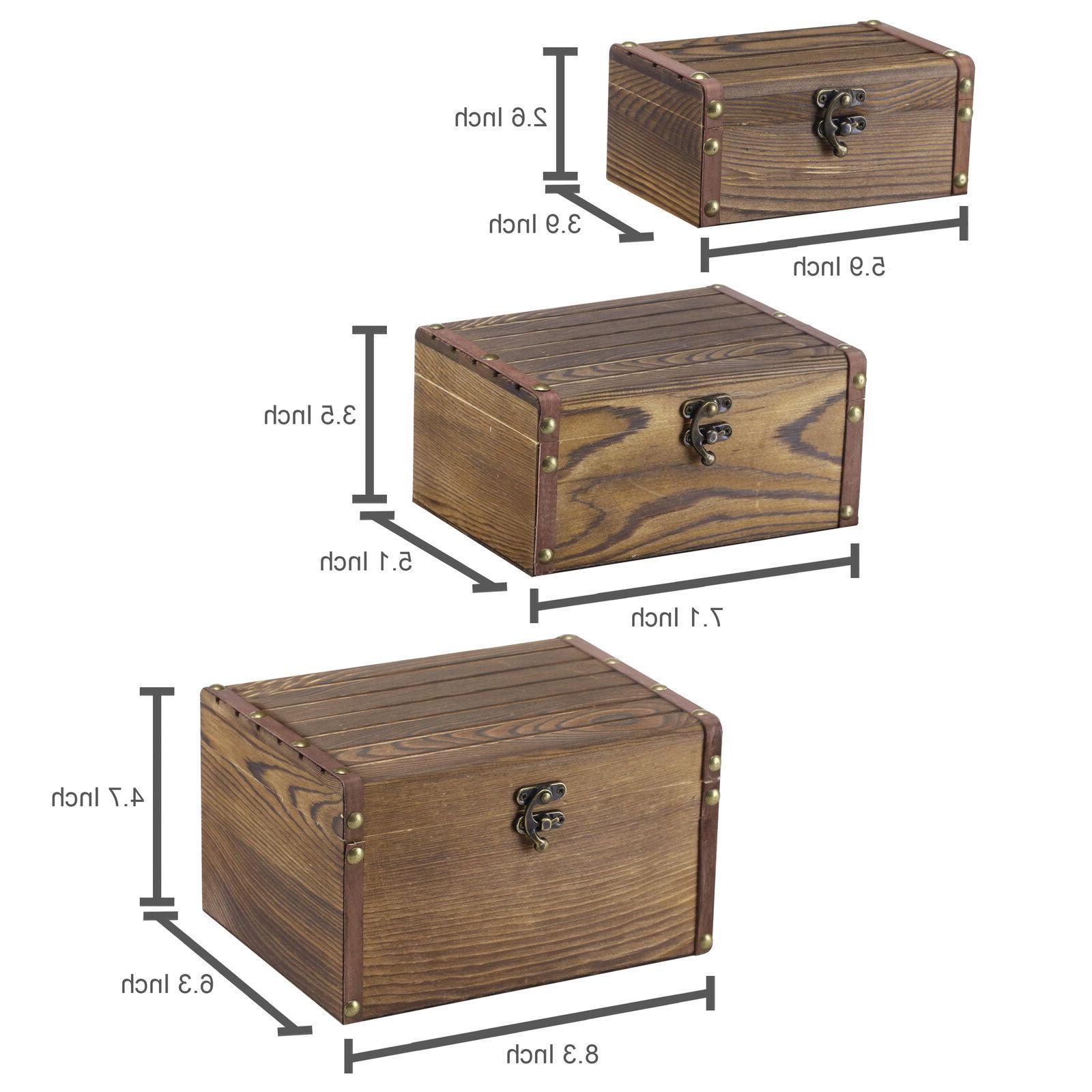 Set Style Wood Decorative Boxes, Storage