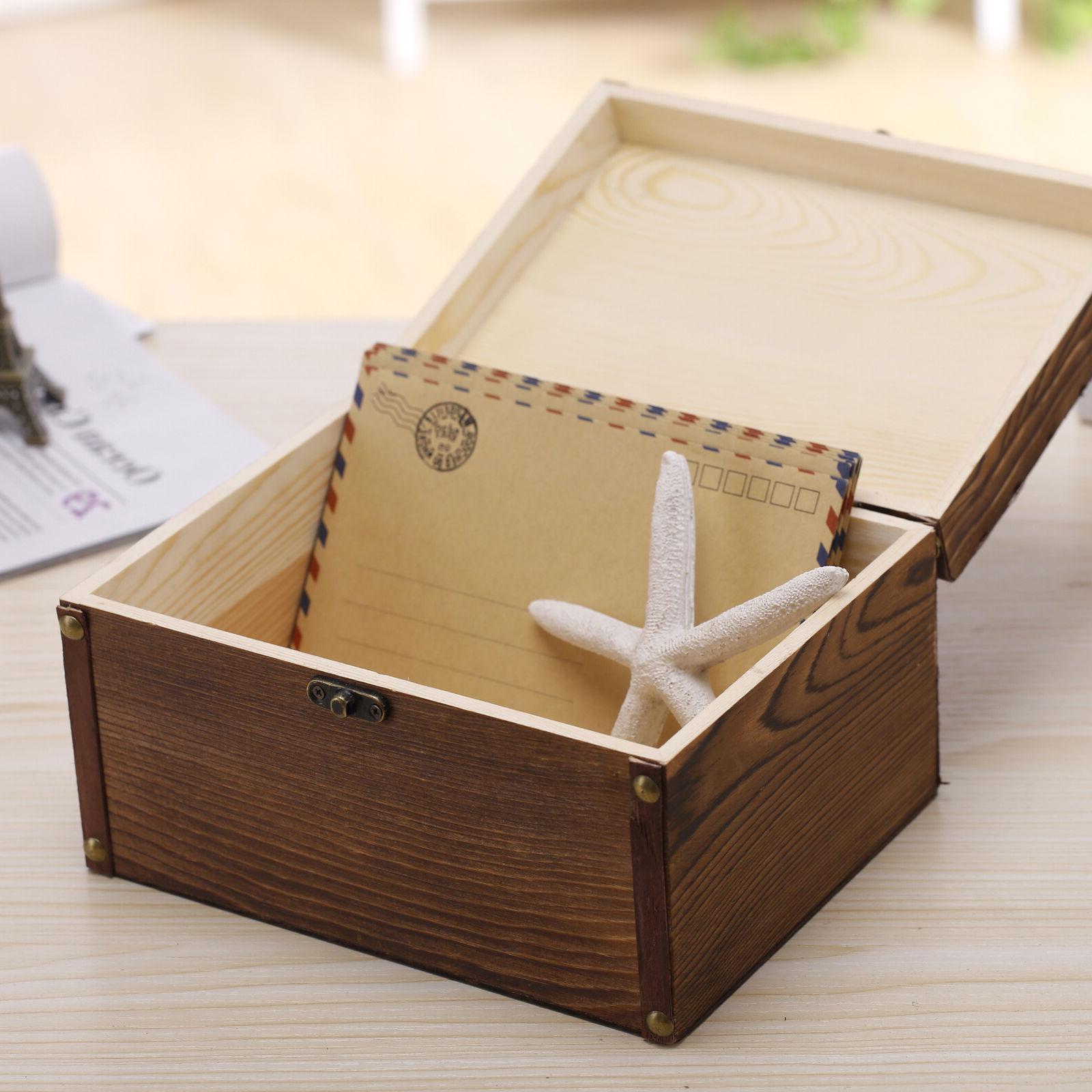 Set of Vintage Style Wood Boxes, Jewelry Trinket Storage