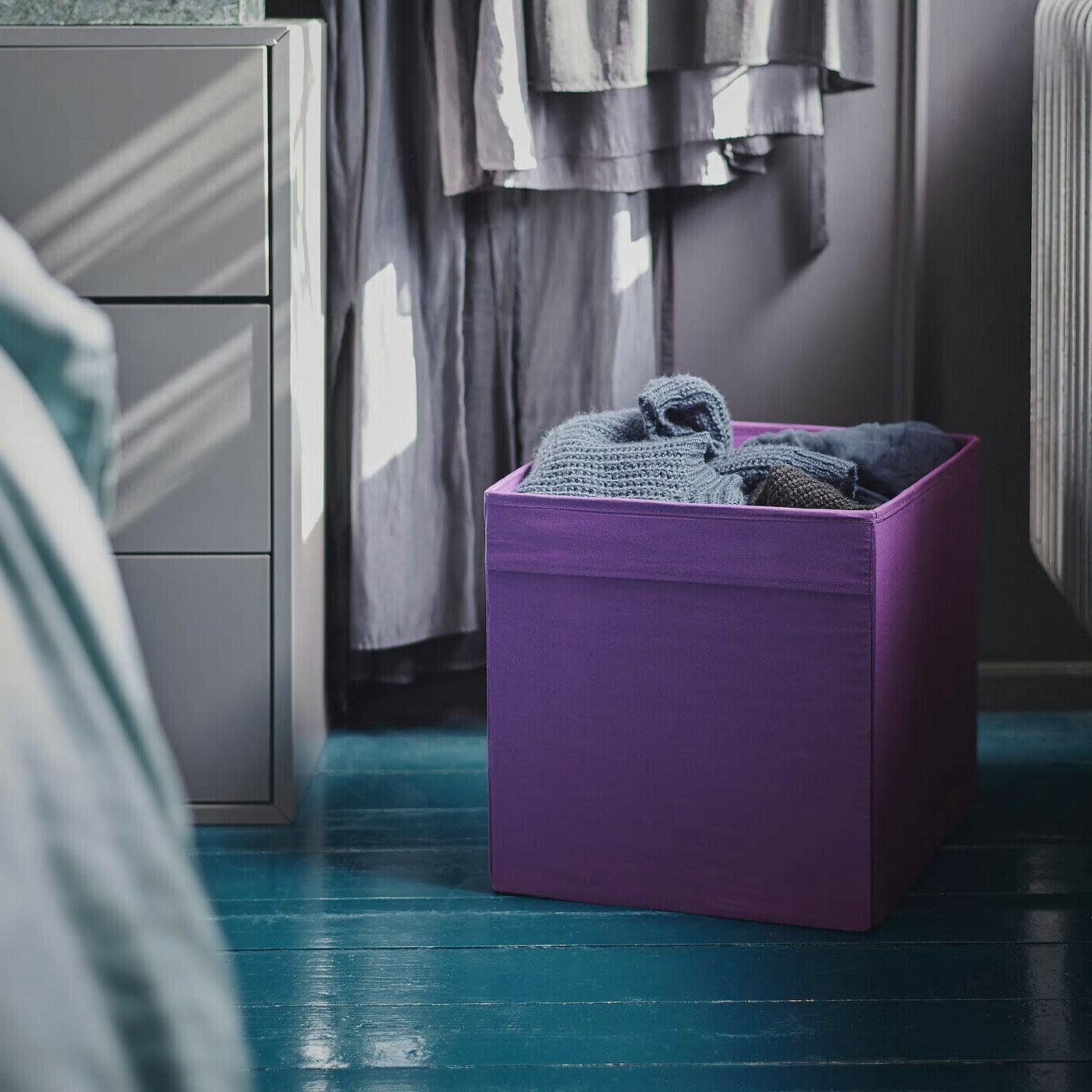 """SET Ikea DRONA fits Expedit 13x15x13"""" Purple NEW"""