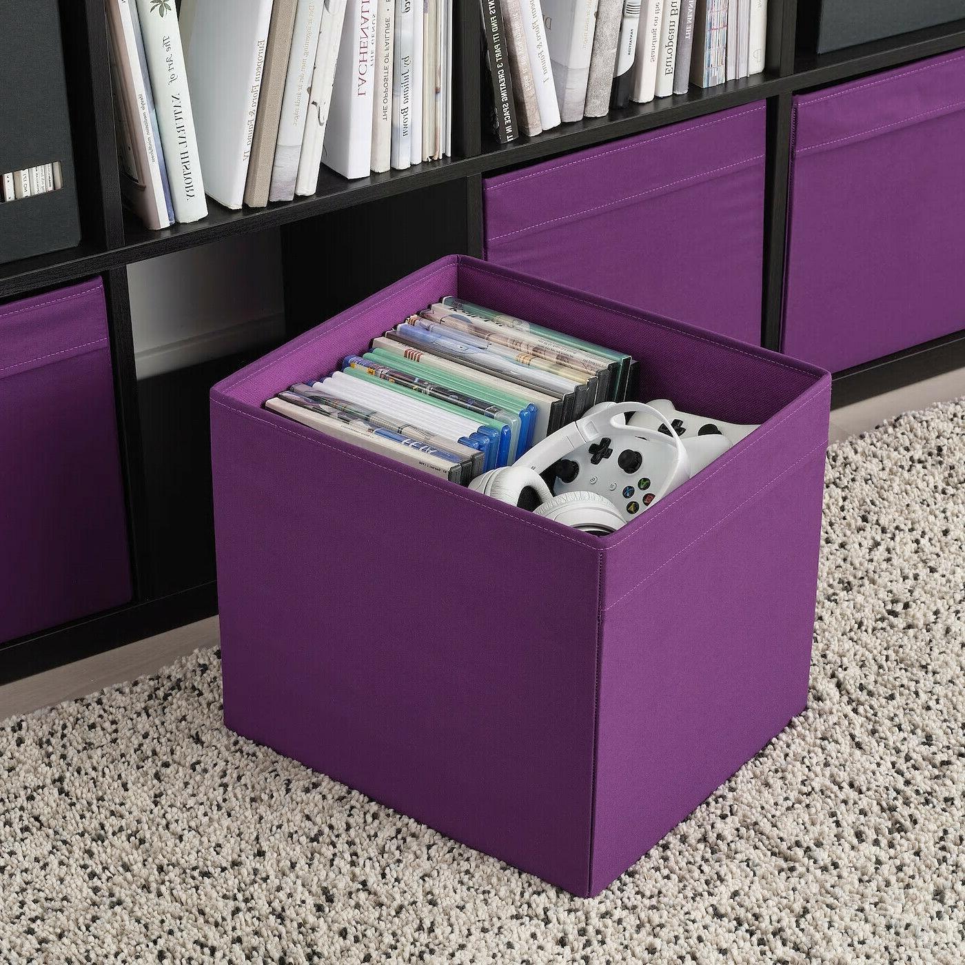 SET of 4 - Ikea DRONA Storage Box fits Kallax Expedit Purple NEW
