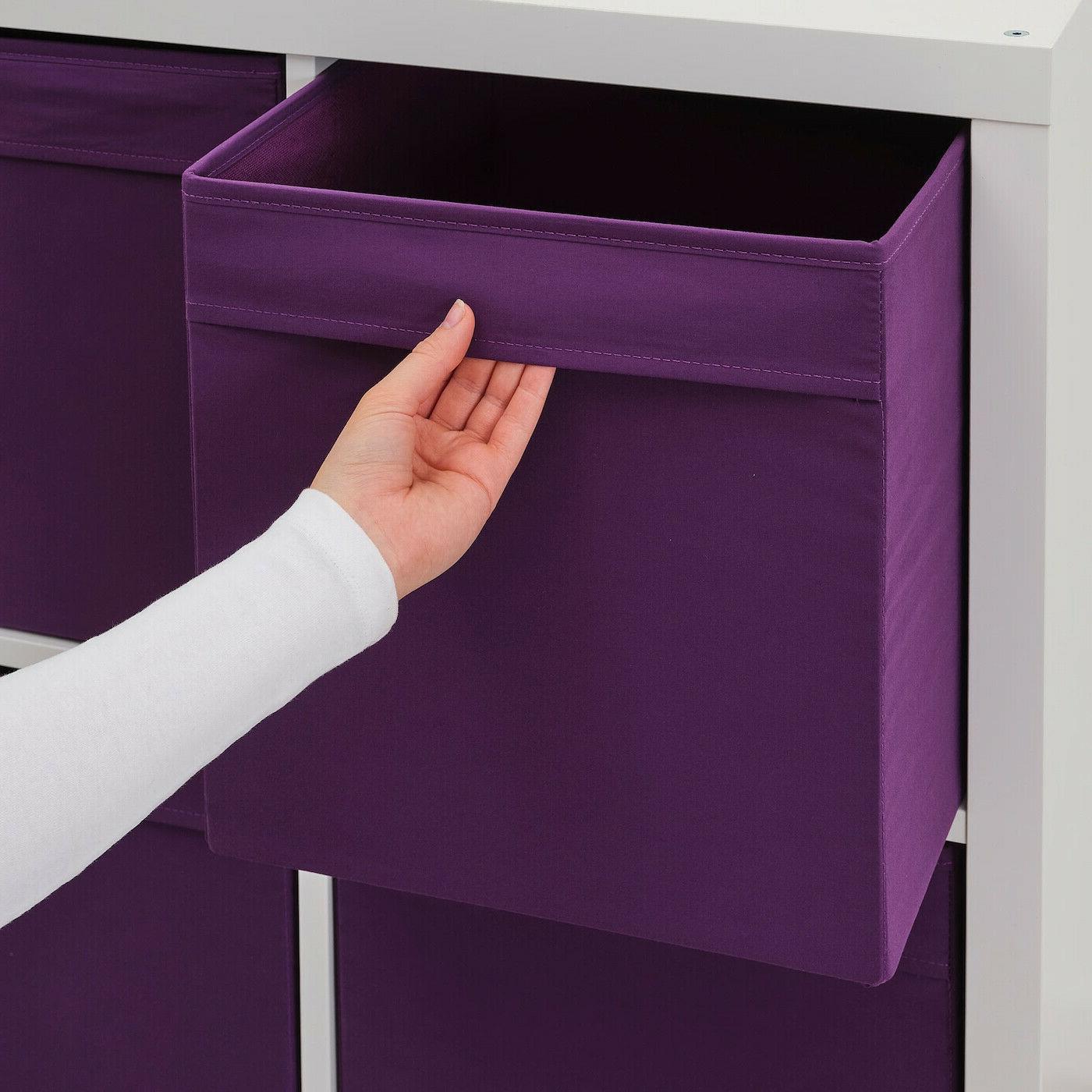 """SET - Ikea DRONA fits Kallax Expedit 13x15x13"""" Purple -"""
