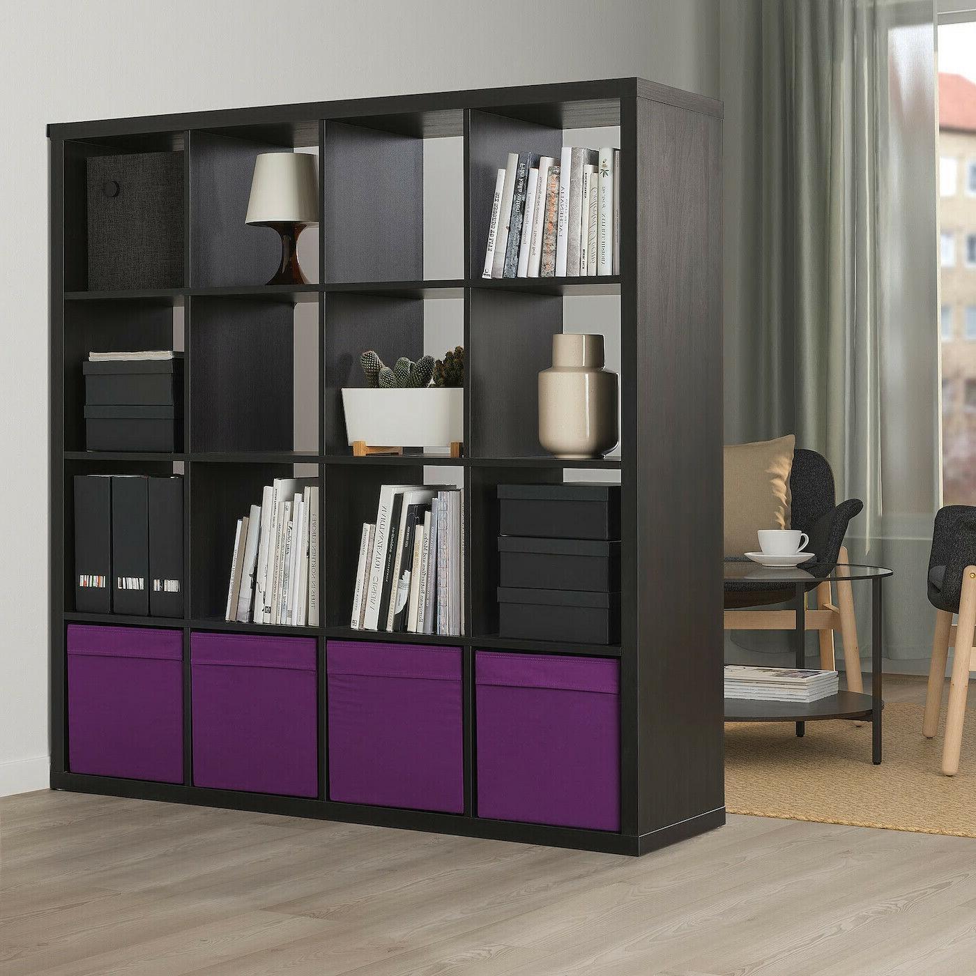 SET 4 Ikea Storage Box fits Kallax Expedit Purple