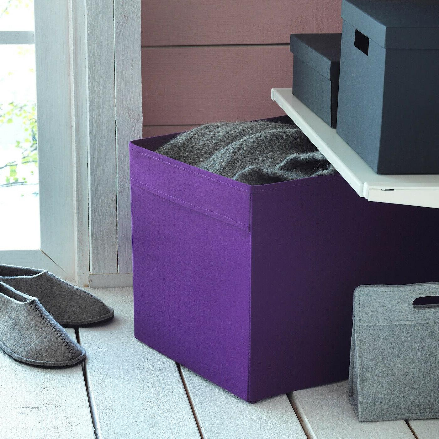 """SET of Ikea fits Expedit 13x15x13"""" Purple"""