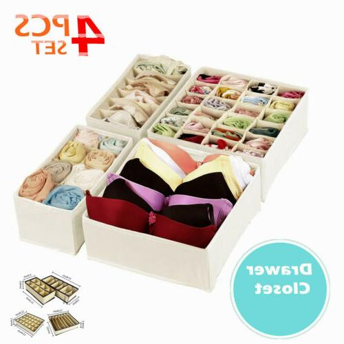 set of 4 foldable storage box bra