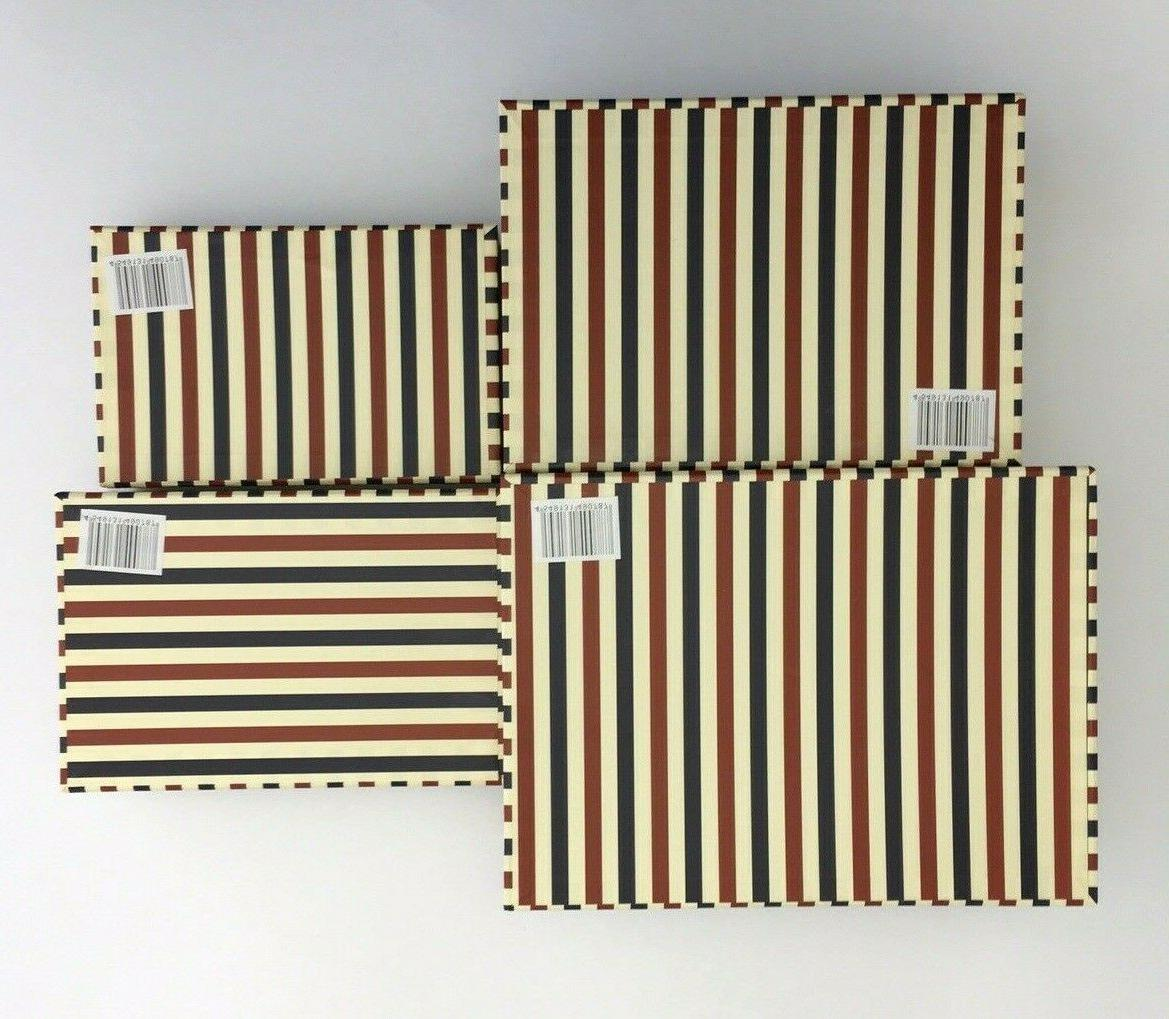 Set 4 New Decorative Boxes Paris Flag