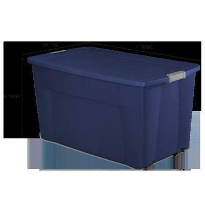 Set 4 Tote Storage Box Wheeled Heavy Duty