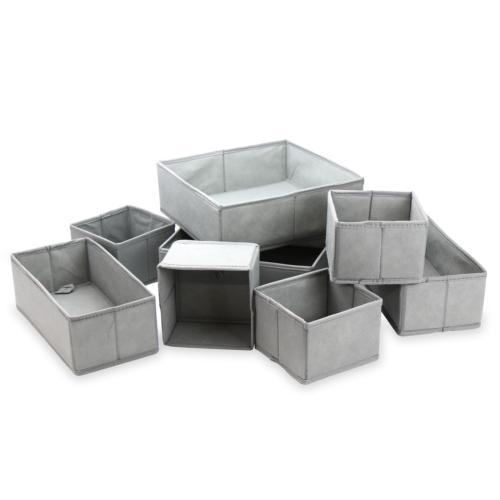 set of 8 drawer organisers fabric box