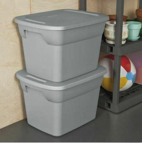 Set Of 8 Plastic Tote Steel Container