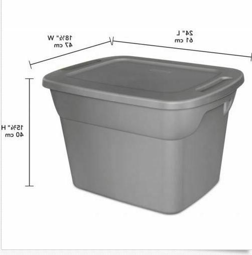 Set Tote Box 18 Gallon Steel Stackable Container Lid