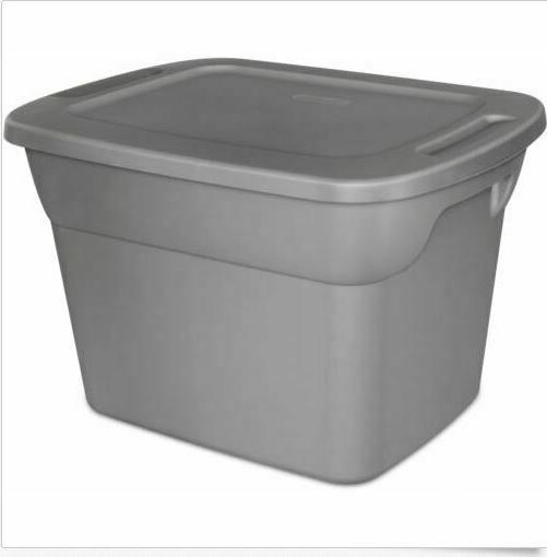 Set Of Tote Box Gallon Steel Stackable Storage Bin Container