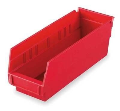 "AKRO-MILS 30120RED Red Shelf Bin, 11-5/8""L x 4-1/8""W x 4""H"