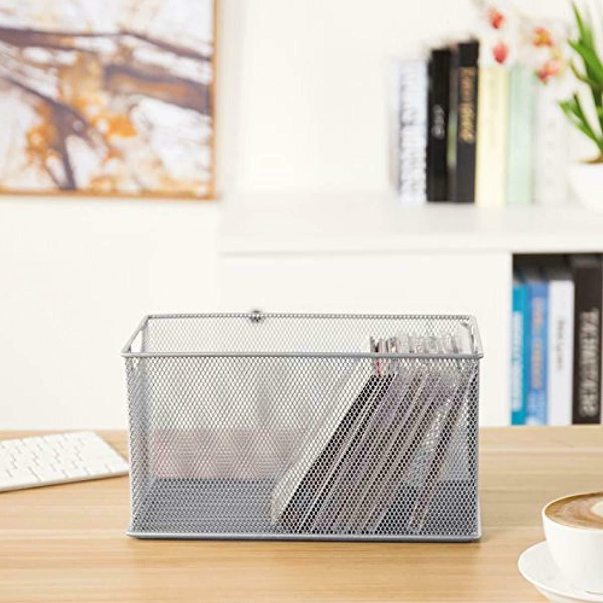 MyGift Mesh CD Holder Organizer, Open Storage