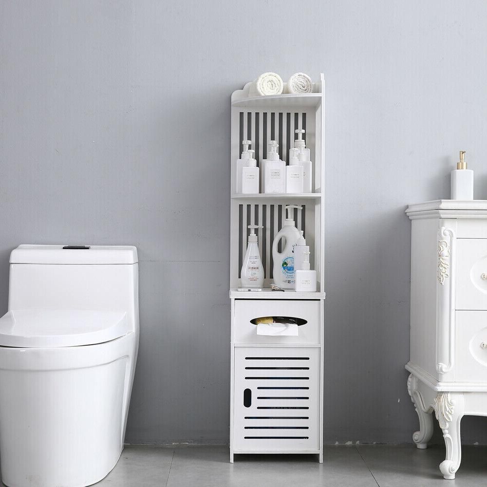 Simple Bathroom Cabinet Organizer Paper Holder White