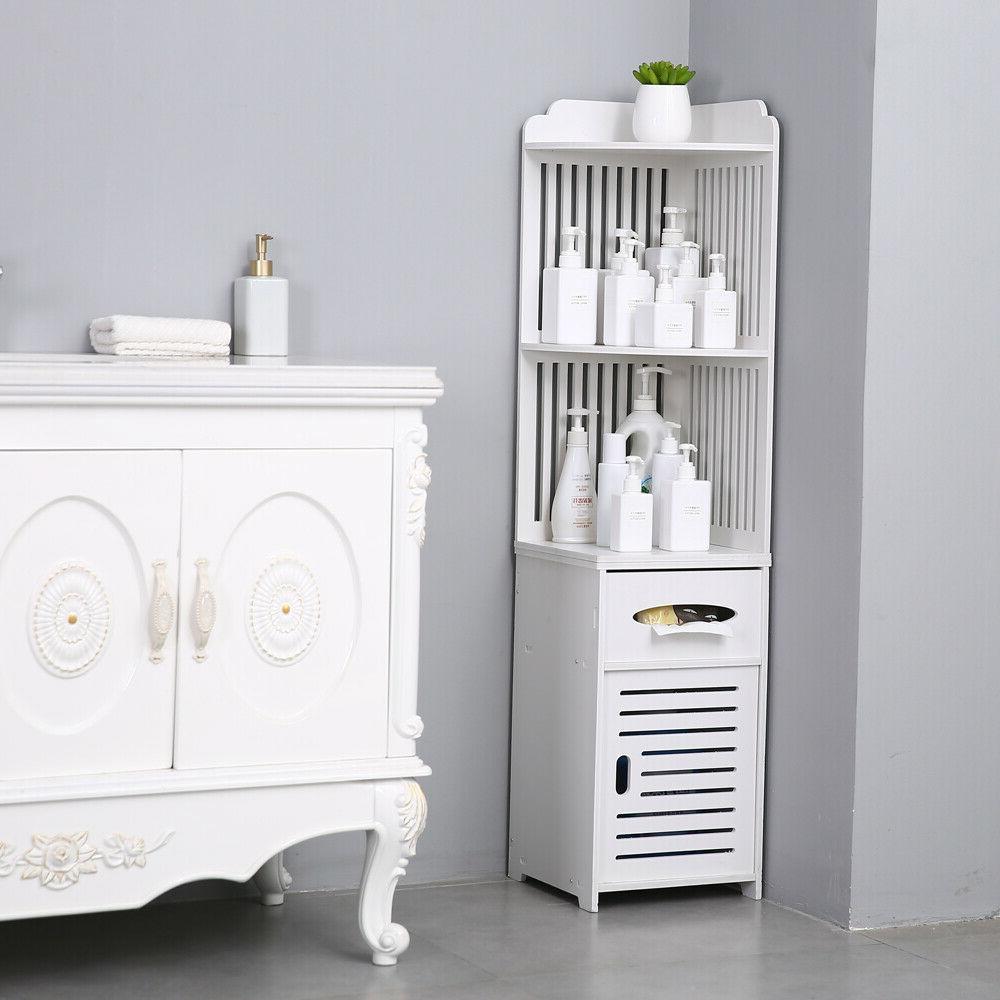 simple bathroom corner shelf cabinet storage organizer