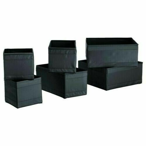skubb black storage boxes set of 6